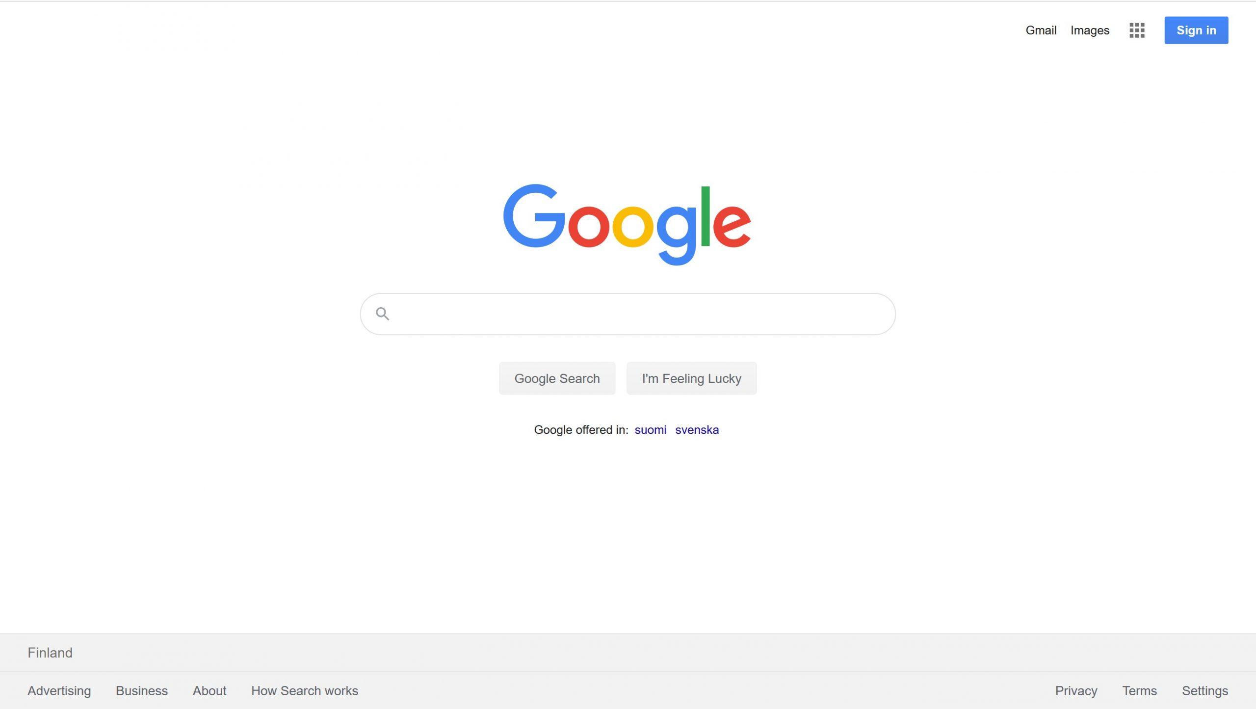 Google Account Step 1